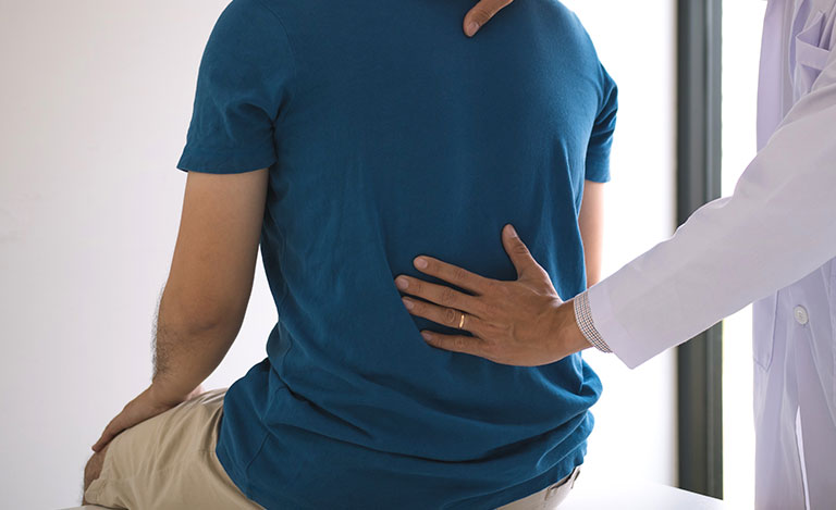 checking for lower back pain